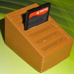 Descargar archivo STL gratis Tarjetero paramétrico para tarjetas SD • Diseño para imprimir en 3D, Palasestia