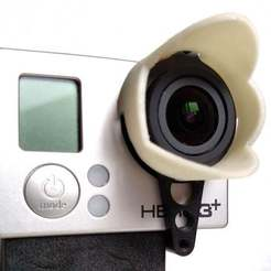 Download free 3D printing files GoPro LensHood to be used with Tarot or RCTimer IMP Gimbals, Palasestia