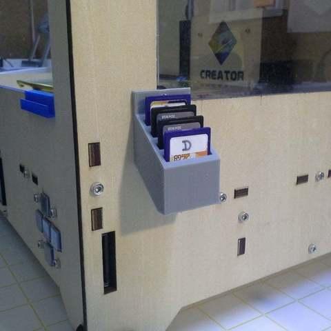 Descargar archivo 3D gratis Tarjetero Sd para 4 tarjetas, Palasestia