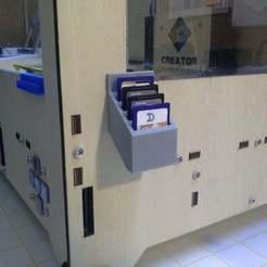 Descargar archivo STL gratis Tarjetero Sd para 4 tarjetas • Objeto para impresora 3D, Palasestia