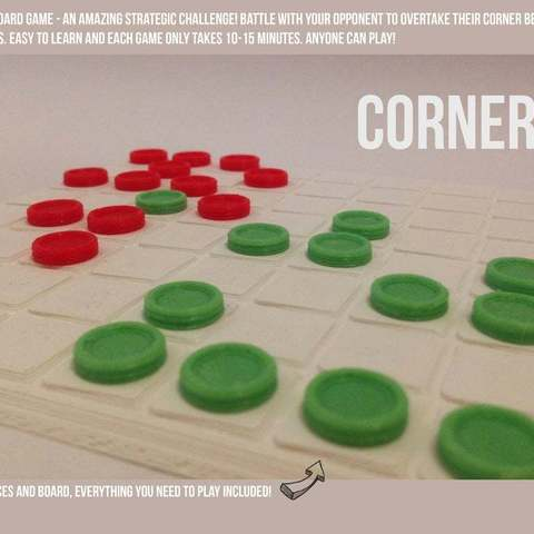 pBDg5bUFINAL_display_large.jpg Download free STL file Corners - A Strategic Board Game • 3D printing model, Palasestia