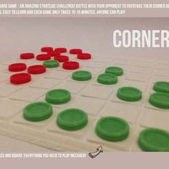 Free 3D printer model Corners - A Strategic Board Game, Palasestia