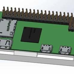 Descargar archivo STL gratis Zócalo Pi Zero de frambuesa • Diseño para imprimir en 3D, Palasestia