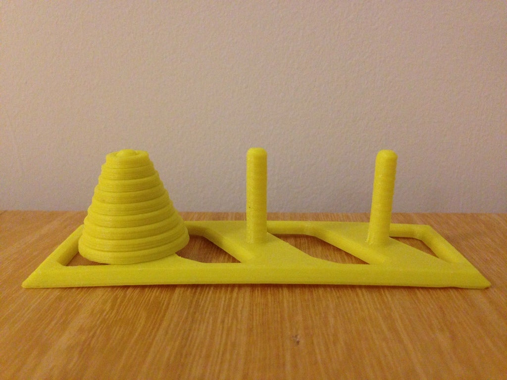 IMG_6521_display_large.JPG Download free STL file Towers of Hanoi (up to 9 rings!) • 3D printable object, Palasestia