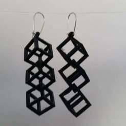 Impresiones 3D gratis Pendientes en forma de cubo, Palasestia