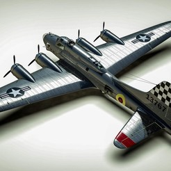 Imprimir en 3D B-17g Fortaleza Voladora, RedShadow15
