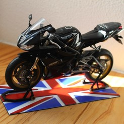 IMG_1789.JPG Download STL file motorcycle model mats + stands 1:10 Union jack • Design to 3D print, mickaelchabert