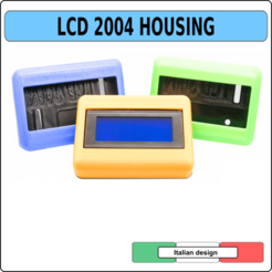 copertina copia.png Download STL file LCD 2004 CASE HOLDER BOX HOUSING • 3D printable template, alphacane