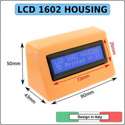 LCD 1602-cult.jpg Download STL file Hosing LCD 1602 16X2 - Arduino enclosure protection box case • 3D printer object, alphacane