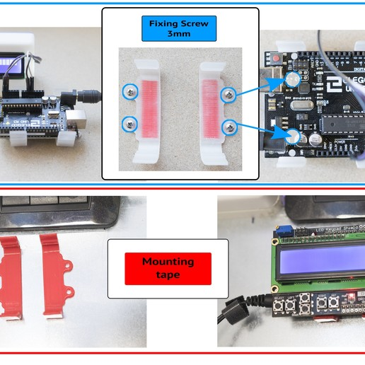 Arduino Clip Support Holder-case housing protection fixing fixing stand