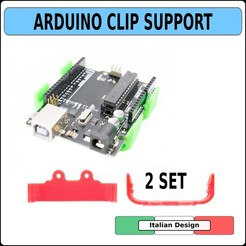 CLIP ARDUINO COPERTINA CULT.jpg Download STL file ARDUINO Clip supporto holder case housing protection fixing • Design to 3D print, alphacane