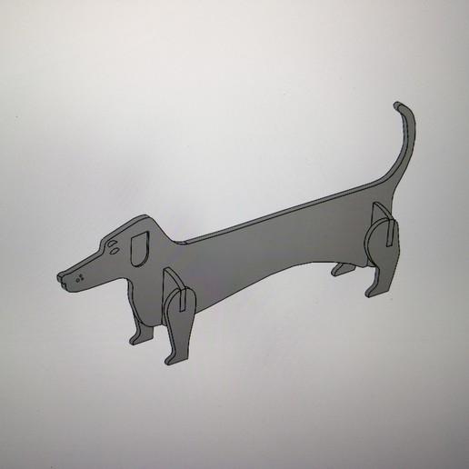 Télécharger modèle 3D gratuit Chien / Perro Salsicha #ESUN3D, dmanzano
