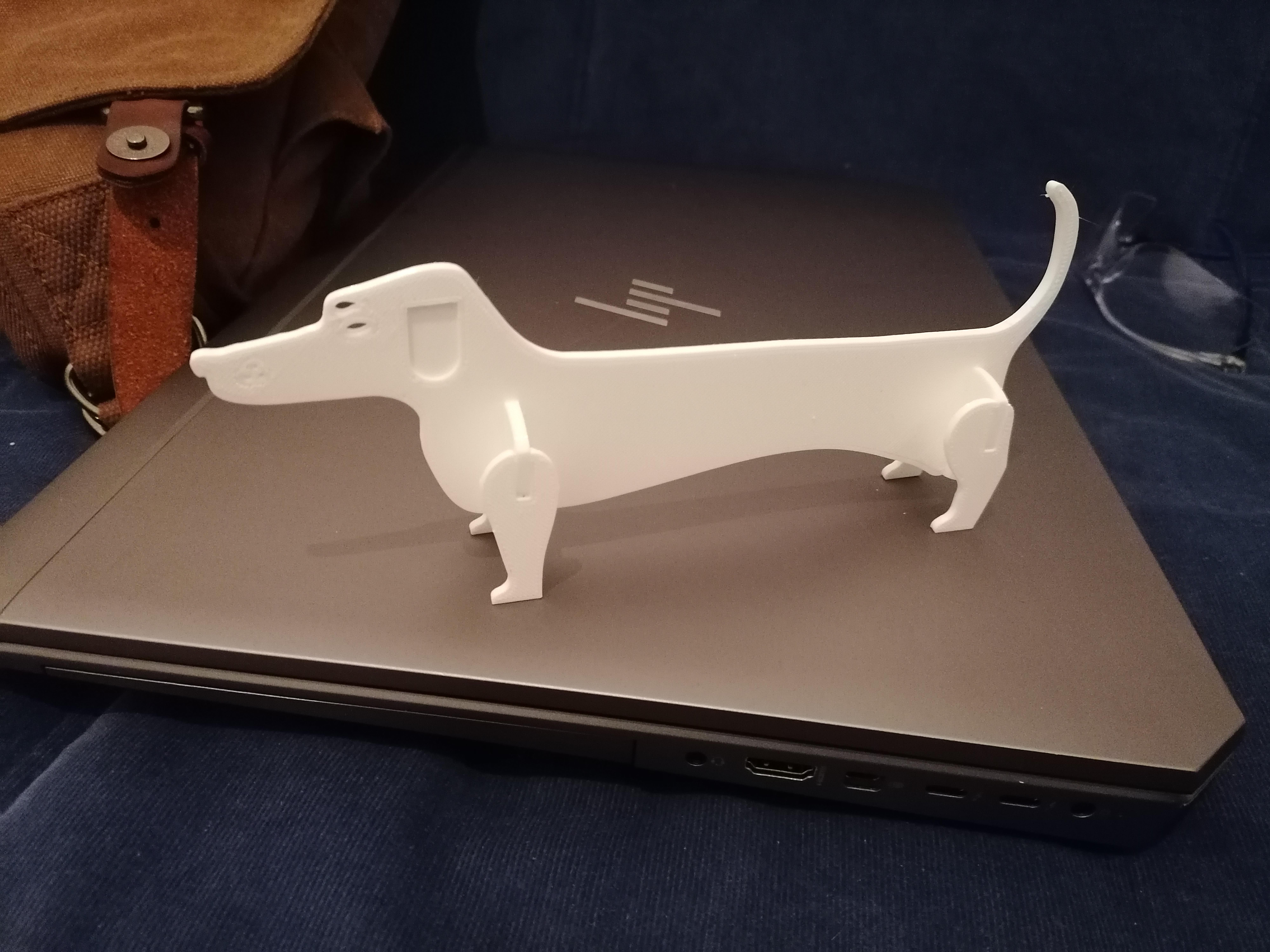 IMG_20191102_211059.jpg Télécharger fichier STL Chien / Saucisse Chien #ESUN3D • Modèle imprimable en 3D, dmanzano