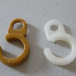 Download free 3D printing files Curtain Hook (parametric), Baldshall