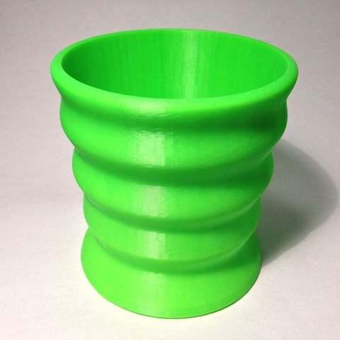 green_cup_display_large.jpg Télécharger fichier STL gratuit ergo porte-gobelet à café • Objet à imprimer en 3D, Baldshall