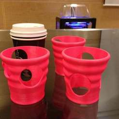 Download free STL paper cup holders, Baldshall