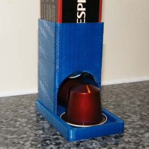 Download free 3D printer templates Nespresso Coffee Capsule Dispenser (parametric), Baldshall