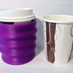 Download free 3D printing files ergo thermo paper cup holder, Baldshall