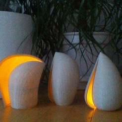 Télécharger fichier 3D gratuit Abat-jour en forme de coquille pour lampe LED, Baldshall