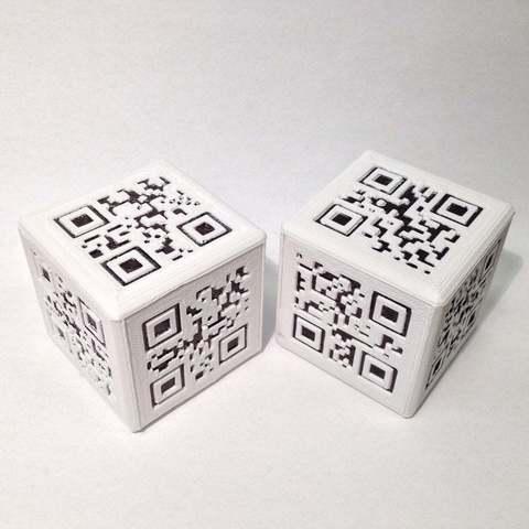 Download free 3D printer files QR Dice (di), Baldshall