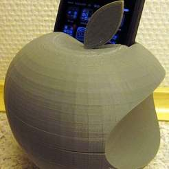 Download free 3D printing files Apple logo : Iphone 4S holder. WORK IN PROGRESS, Baldshall