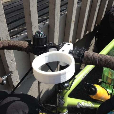 Télécharger fichier STL gratuit Porte-gobelet guidon de vélo - Chopine de verre ou de café, Ilourray