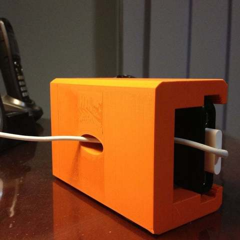 Download Free 3d Printing Designs Iphone Alarm Dock ・ Cults