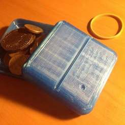 Download free 3D printing templates Travel loose change holder, Ilourray