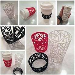 Download free 3D printer files Custom Sleeve for Coffee and Tea Cups, Ilourray