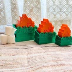 fires.jpg Télécharger fichier STL Porte-clé et ornement du feu de benne 2020 • Modèle pour imprimante 3D, BreakingEvenZCW