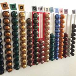 Download free STL Nespresso capsule wall holder light, Aralana