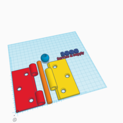Flat Hinge.png Download STL file Flat Hinge • Template to 3D print, Isepic