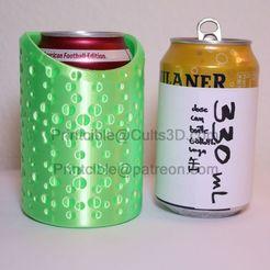 330-short-bubbles-wasser.jpg Télécharger fichier STL CanCooler 330ml (boîte courte) • Modèle à imprimer en 3D, Printcible