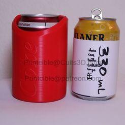 330-short-coke-wasser.jpg Télécharger fichier STL CanCooler 330ml (boîte courte) • Modèle à imprimer en 3D, Printcible