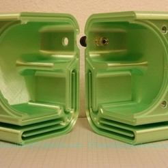 IMG_0969-kleiner.jpg Download STL file 100mm Speaker Housing Box Case • 3D printer object, Printcible
