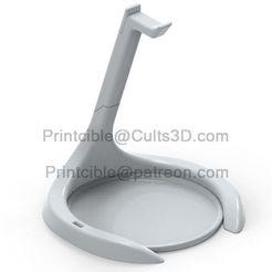 Download 3D printer designs Headphone stand/holder, Printcible