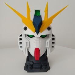 3D print model Nu Gundam Bust, Manniks