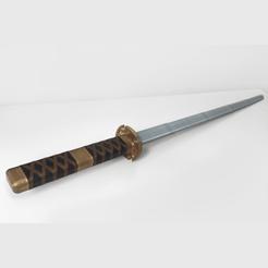 Image6.png Download STL file Sandai Kitetsu (Zoro's Cursed Blade) Inspired Katana • 3D printable object, Manniks