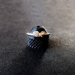 Télécharger plan imprimante 3D gatuit Bague de fiançailles en or imprimée en 3D, lkesiunas