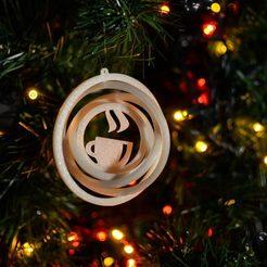 indiv..jpg Télécharger fichier STL Décoration de l'arbre de Noël - Tasse à café - Gyroscope 3D • Objet pour impression 3D, lkesiunas