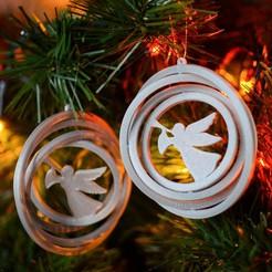 MED_9068.jpg Télécharger fichier STL Décoration de l'arbre de Noël - Angel - gyroscope 3D • Plan imprimable en 3D, lkesiunas