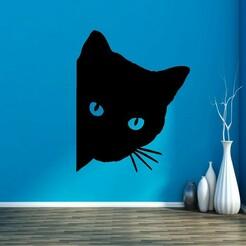 542586.jpg Download STL file CAT DECO • 3D printer template, mistic-3d