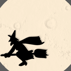 Screenshot_4.png Download STL file WITCH ON THE MOON • Template to 3D print, mistic-3d