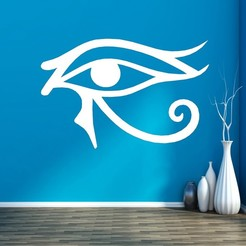 542586.jpg Download STL file EYE OF HORUS • 3D printer model, mistic-3d