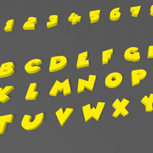 Screenshot_2.png Download STL file LETTERS AND NUMBERS 3D COMIC • 3D printable design, mistic-3d