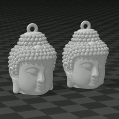 JJLJH.PNG Télécharger fichier STL BOUCLES D'OREILLES BUDDHA • Objet à imprimer en 3D, mistic-3d