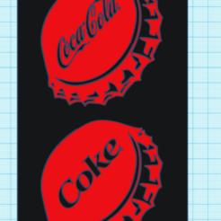 Capturamb b.PNG Download STL file COCA COLA BOTTLE CAP • 3D printer template, mistic-3d