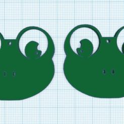 UUGUG.PNG Download STL file HAPPY FROG EARRINGS • 3D print object, mistic-3d