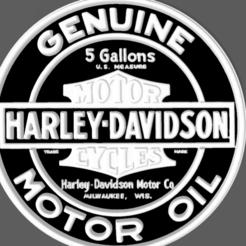 Screenshot_8.png Download STL file HARLEY DAVIDSON MOTOR OIL • 3D printable object, mistic-3d