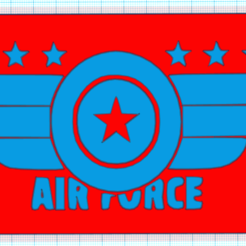Download free STL files AIR FORCE, mistic-3d